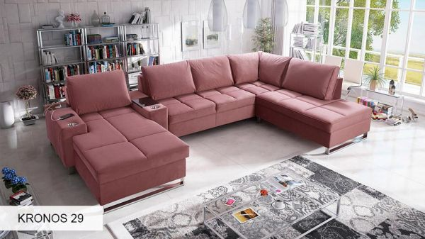 Ecksofa Modesto V mit Schlaffunktion Bettkasten XL Sofa 26