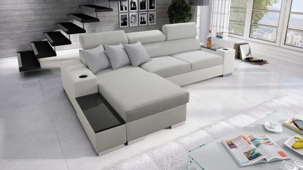 Ecksofa Sante Abstellfläche Polstersofa Schlafsofa Couch Sofa 26