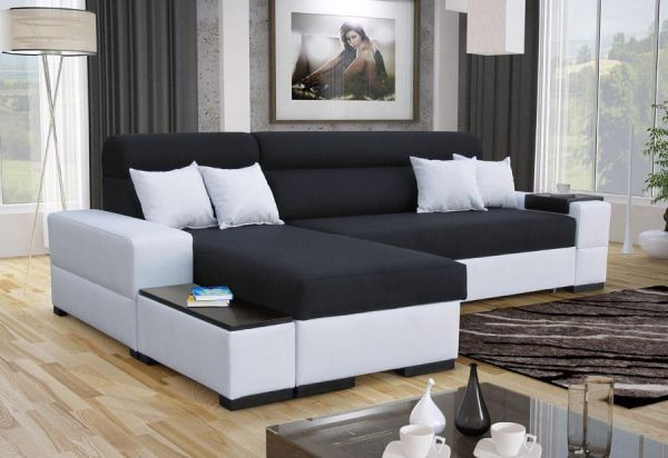 Ecksofa Oreo Abstellfläche Polstersofa Couch Sofa L-Form 26