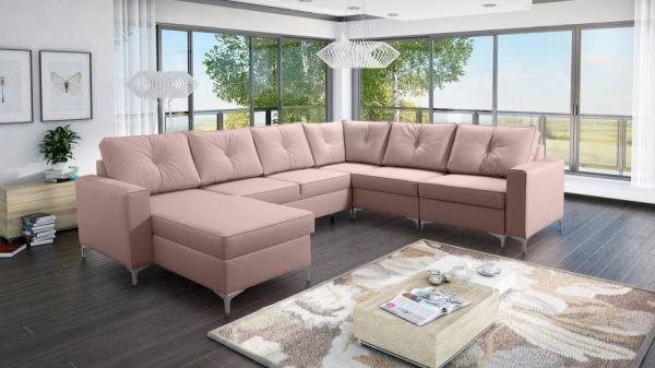 Ecksofa Couch Rio U-Form Sofa Wohnlandschaft Groß 26