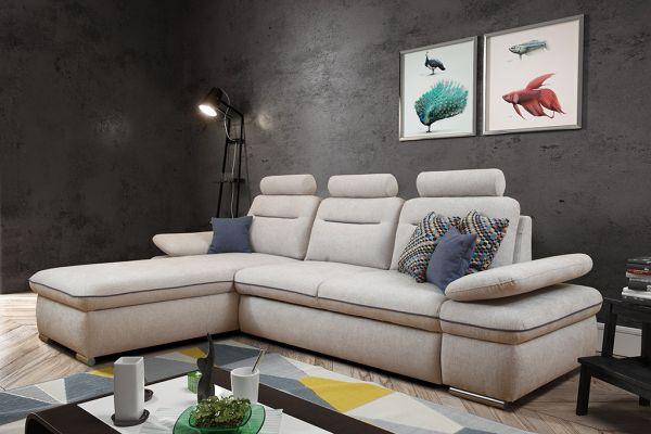 Ecksofa mit Schlaffunktion Schlafsofa Eckcouch Couch Luxor 01