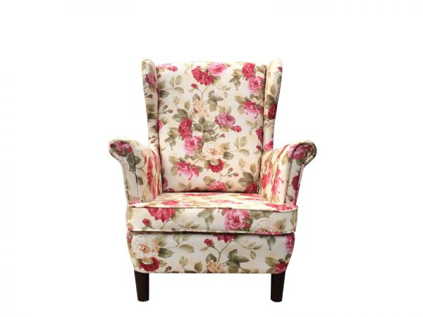 Ohrensessel Sessel Polstersessel Skandinavisch Blumenmuster 14