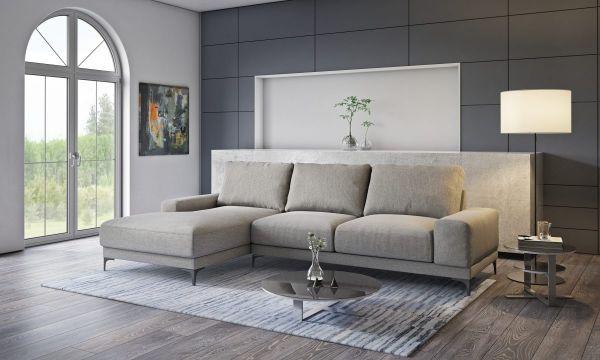 Ecksofa ohne Schlaffunktion Eckcouch Couch Ruby Skandinavisch 03