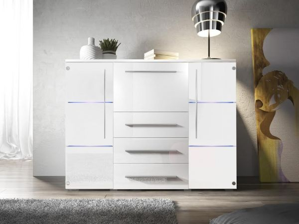 Sideboard Highboard Kommode Banri Hochglanz 07