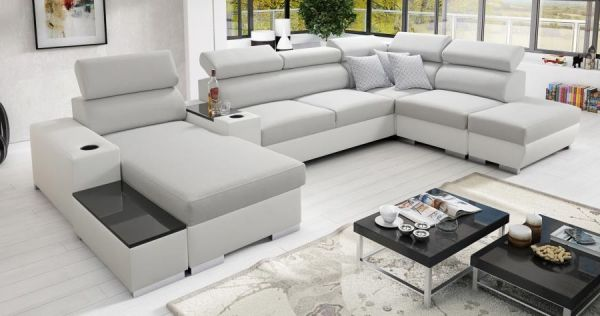 Ecksofa Wohnlandschaft Ponti Polstersofa Couch XXL Sofa 26