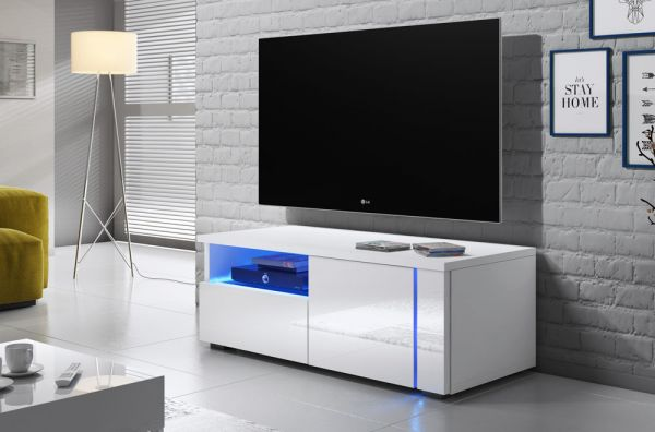 Fernsehtisch 100cm Unterschrank Fernsehschrank TV-Schrank inkl.Led 07