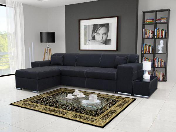 Ecksofa Schlafsofa Ara Abstellfläche Polstersofa Couch Sofa 26