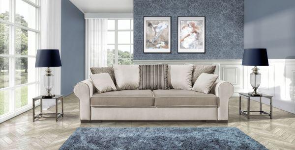 Schlafsofa Polstersofa Couch Dori mit Bettkasten Antik 11