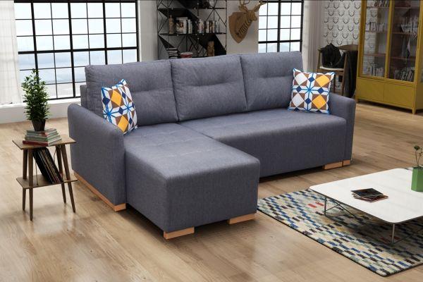 Ecksofa mit Schlaffunktion Eckcouch Polstersofa Couch Sofia 04