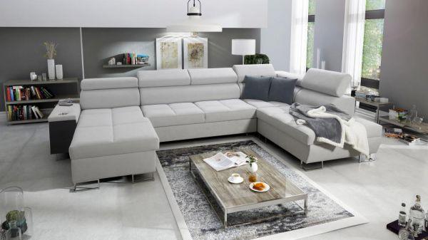 Ecksofa Wohnlandschaft Margo VI U-Form XXL Sofa 26