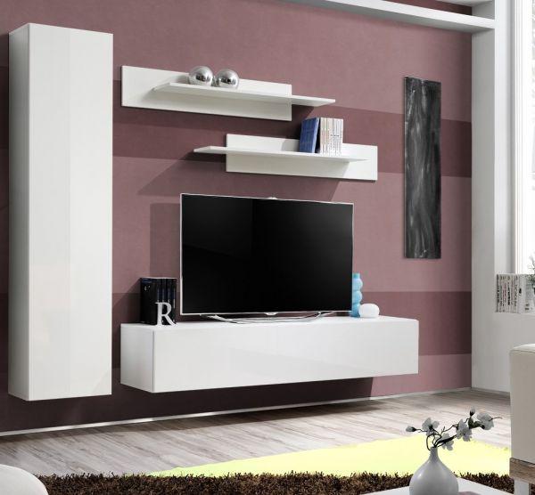 Wohnwand Viano Schrankwand Anbauwand Möbelset 21