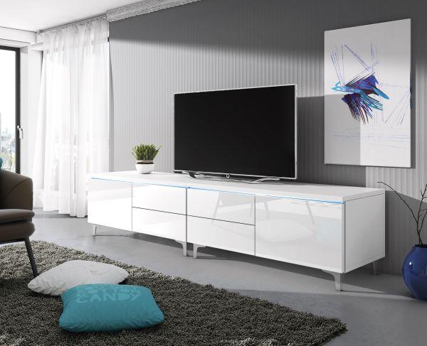 Fernsehtisch Rtv 11w 200cm Lowboard Unterschrank Tv Schrank Mit Led 07