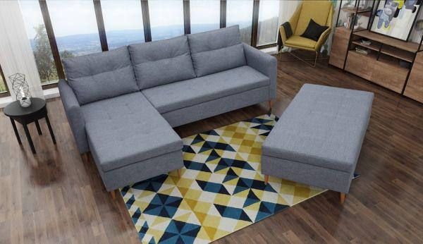 Ecksofa mit Schlaffunktion Eckcouch Polstersofa Couch Argon 04