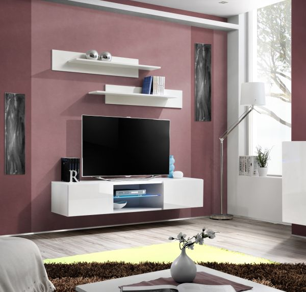 Fernsehtisch Lowboard Unterschrank TV-Board Giovani mit Led 21