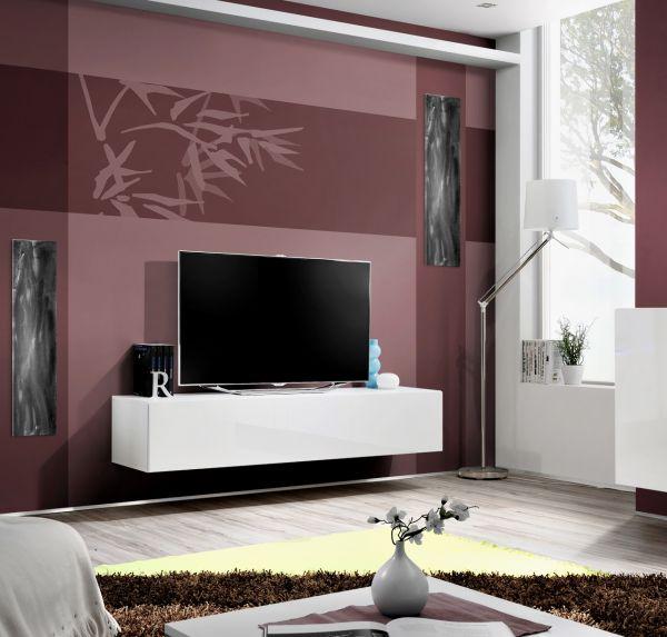 Fernsehtisch Lowboard Unterschrank TV-Board Flori Hochglanz 160 cm 21