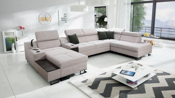 Ecksofa Fosti V Wohnlandschaft XXL Sofa U-Form 26