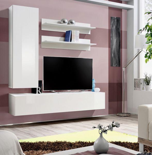 Wohnwand Neron Schrankwand Anbauwand Möbelset 21