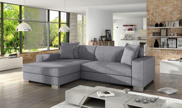 Ecksofa mit Schlaffunktion Eckcouch Polstersofa Couch Malaga 04