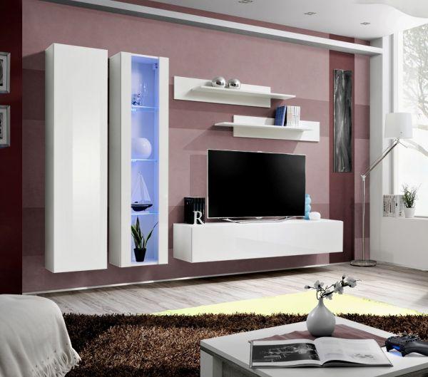 Wohnwand Norman Schrankwand Anbauwand Möbelset 21