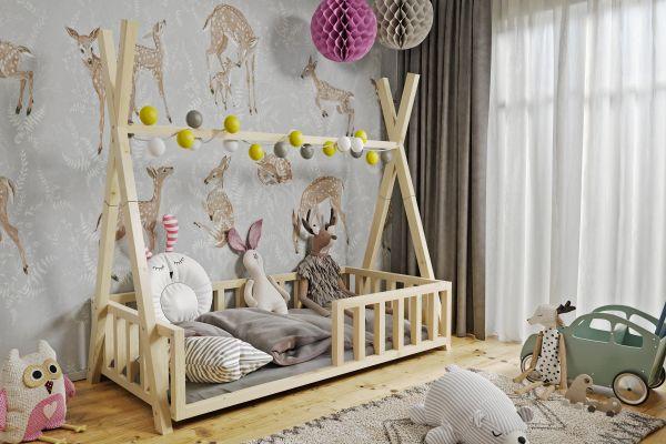Kinderbett Luki Babybett mit Lattenrost ohne Schublade