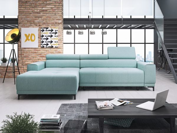Ecksofa Eckcouch Polstersofa Couch Huan Mini mit Relaxfunktion 11