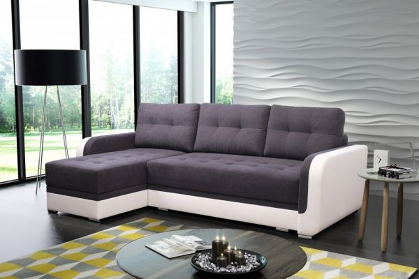 Ecksofa mit Schlaffunktion Schlafsofa Eckcouch Couch Gamma 03
