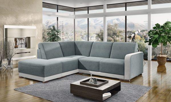 Ecksofa mit Schlaffunktion Schlafsofa Couch Rino Modern 03