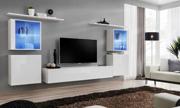 Wohnwand Camil Anbauwand mit Led Schrankwand Modern 21