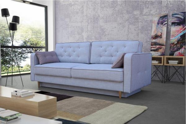 Sofa mit Schlaffunktion Polstersofa Couch Schlafsofa Hana 15