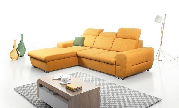 Ecksofa mit Schlaffunktion Schlafsofa Couch Lucas Modern 13