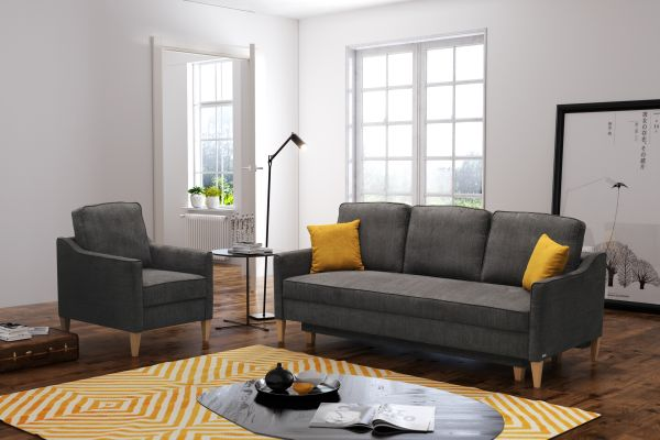 Schlafsofa Schlafcouch Couch Polstersofa Sessel Delfi Set 03