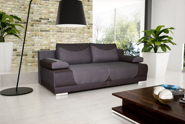 Sofa mit Schlaffunktion Polstersofa Couch Kate 15