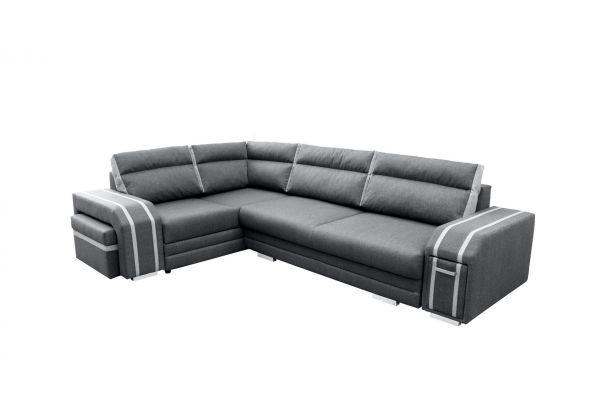 Ecksofa mit Schlaffunktion Eckcouch Polstersofa Couch Ava 04
