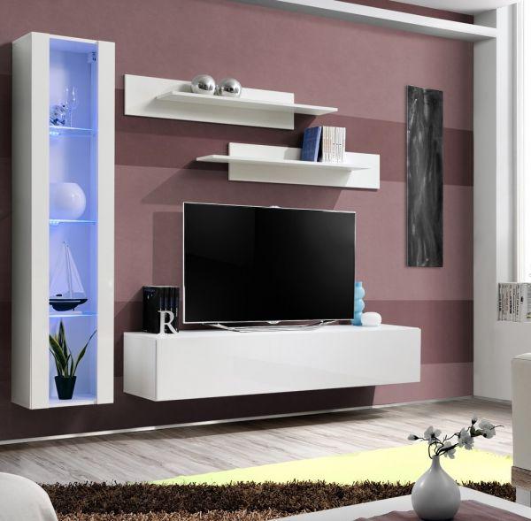 Wohnwand Kenia Schrankwand Anbauwand TV-Board Möbelset 21