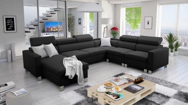 Ecksofa mit Schlaffunktion Wohnlandschaft Pico Polstersofa Couch XXL 26