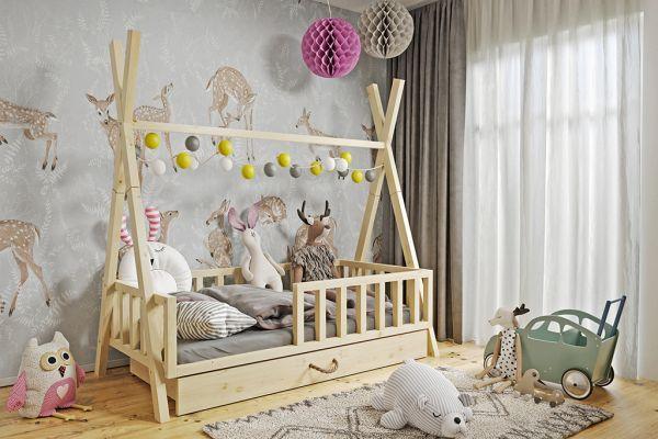 Kinderbett Luki 2 Babybett mit Lattenrost mit Schublade
