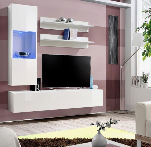 Wohnwand Late Schrankwand Anbauwand TV-Board Möbelset 21
