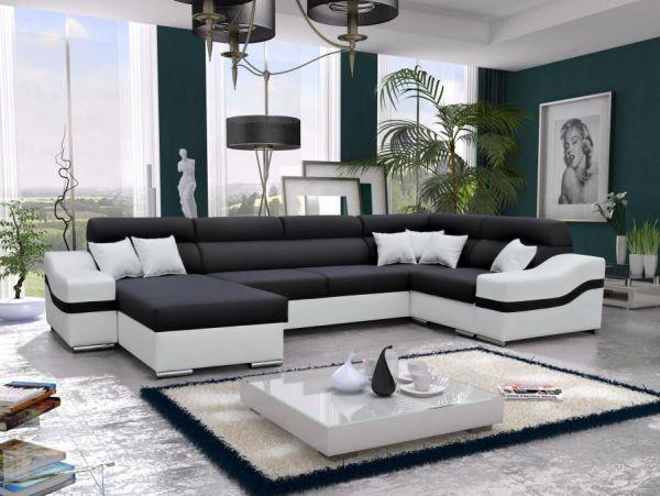 Ecksofa Wohnlandschaft Lena Polstersofa Couch XL Sofa 26
