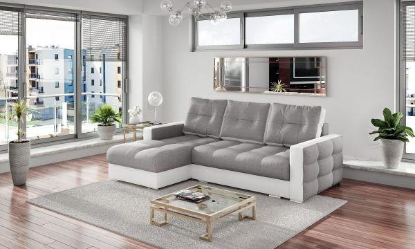 Ecksofa mit Schlaffunktion Schlafsofa Couch Perses Modern 03