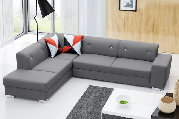 Ecksofa mit Schlaffunktion Eckcouch Polstersofa Couch Ida 04