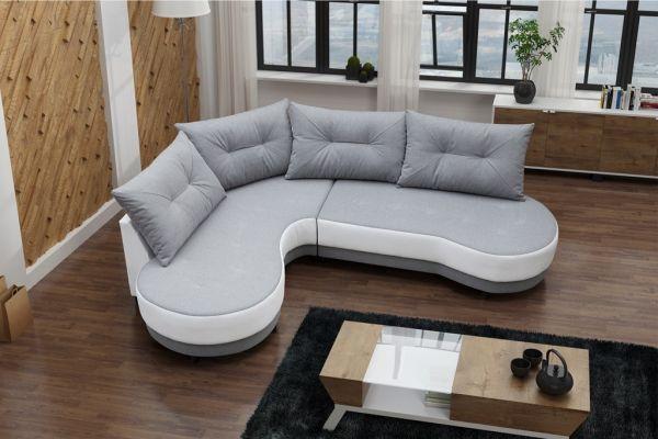 Ecksofa ohne Schlaffunktion Eckcouch Polstersofa Couch Ergo 04
